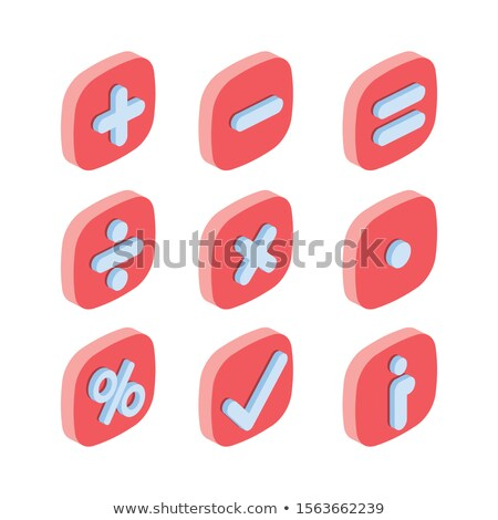 Buttons with multiplication operation Stock photo © bluering