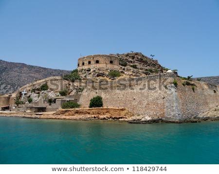Ruins in the historic leper colony at Island Kalidon Stock photo © ankarb