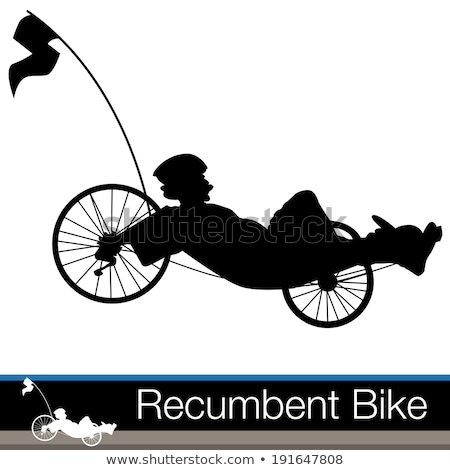 Recumbent bicycle vector illustration clip-art image Stock photo © vectorworks51