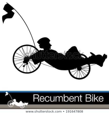 üç · tekerlekli · bisiklet · ikon · vektör · web · hareketli · uygulamaları - stok fotoğraf © vectorworks51