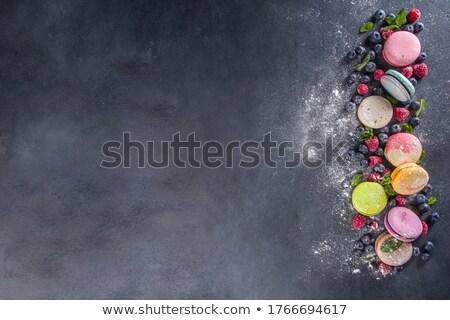 Gyümölcs keksz étel karácsony kreatív süti Stock fotó © M-studio
