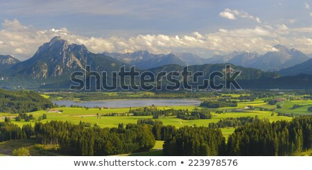 View to Bavyrian Alps, mountain Saeuling stock photo © kb-photodesign
