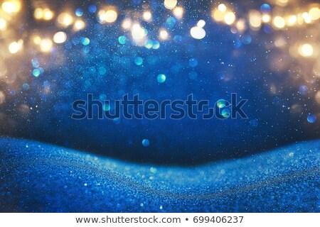 Glittery blue Christmas background Stock photo © kjpargeter