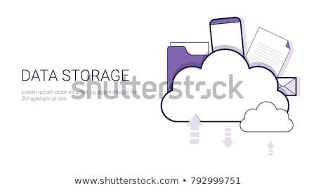 cloud · hosting · lijn · icon · vector · geïsoleerd · witte - stockfoto © orson