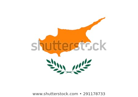 Illustration of EU Flag and flag of Cyprus, isolated white Stock photo © tussik