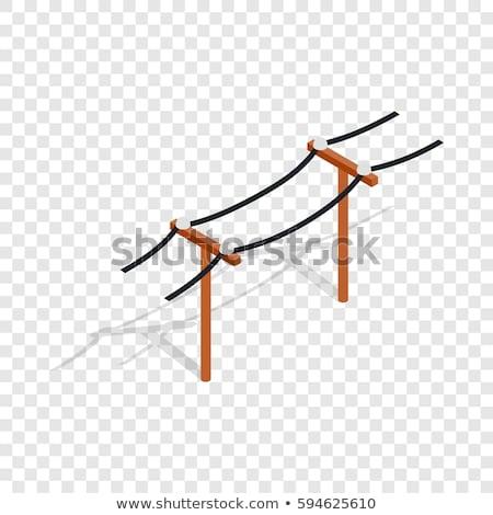 Poder fios blue sky indústria aço elétrico Foto stock © OleksandrO