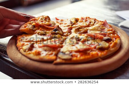 tranche · fromages · maison · pizza · tomate - photo stock © yatsenko