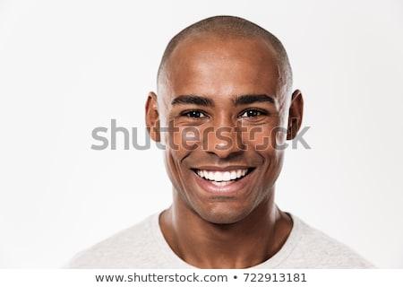 ハンサム 黒人男性 見える カメラ 肖像 小さな ストックフォト © Giulio_Fornasar