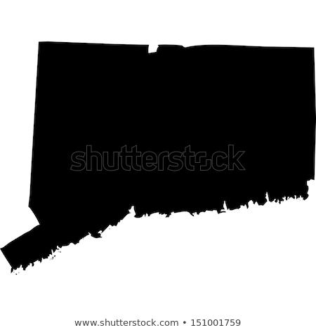 mapa · Connecticut · viajar · preto · américa · EUA - foto stock © rbiedermann
