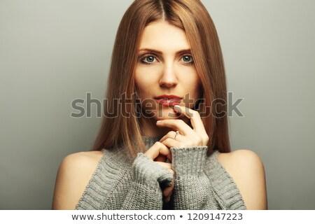 Sedutor relaxante fechar natureza loiro Foto stock © konradbak