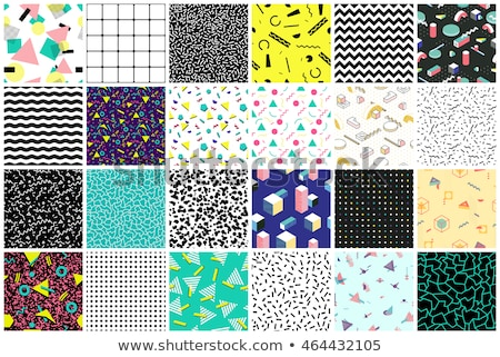 Retro triangles in 90s style seamless vector pattern. Stock photo © yopixart