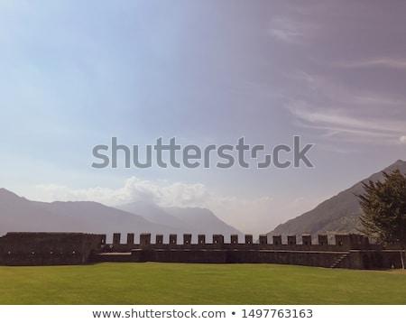 Kastély kő három kastélyok ház fal Stock fotó © Fisher