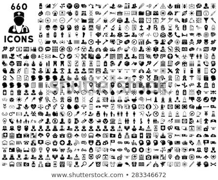 óvszer vektor ikon izolált fehér szerkeszthető Stock fotó © smoki