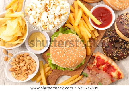 selection of junk foodfast food stock photo © m-studio