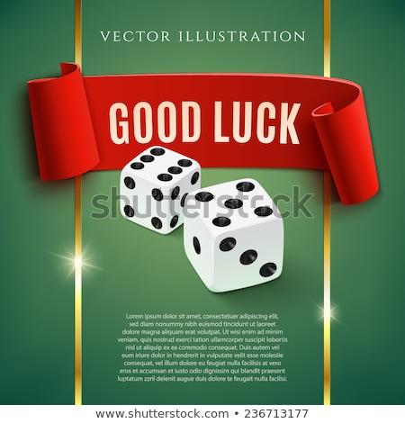 şanslı beyaz oynama kumarhane Stok fotoğraf © anyunoff