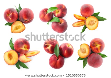 Fresh ripe peaches Stock photo © BarbaraNeveu
