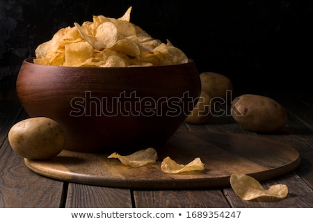 raw whole and chipped potatoes stock photo © Digifoodstock