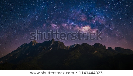 moon landscape. Star and mountain. Stock photo © rwgusev