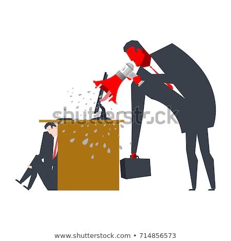 Chef · Geschrei · Manager · Direktor · Arbeit · Büro - stock foto © maryvalery