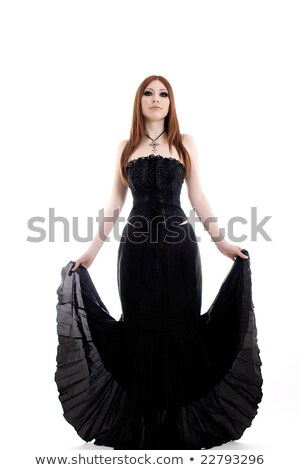 Corseted woman in the dark Stock photo © Pilgrimego