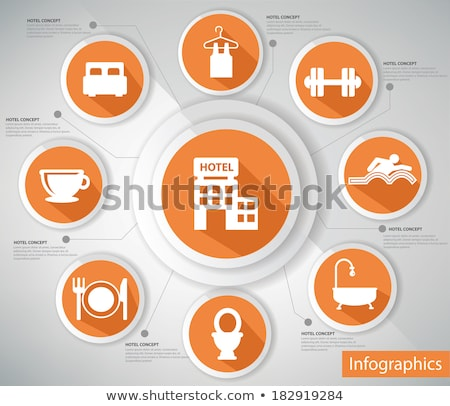 Set of info graphics elements fitness, vector illustration. Stock photo © kup1984