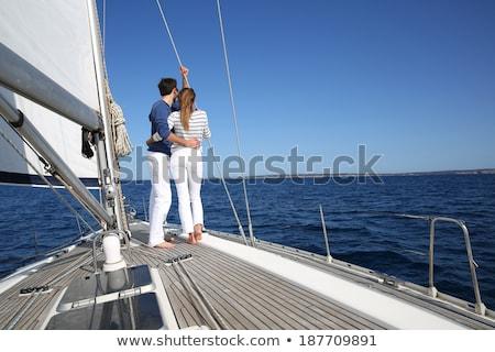 Paar permanente zeil boot kleur vrede Stockfoto © IS2