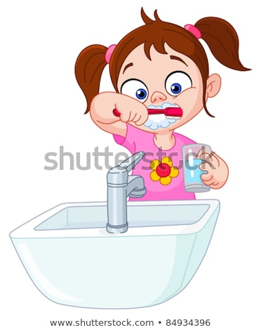Female dentist washing her hands Stock photo © IS2