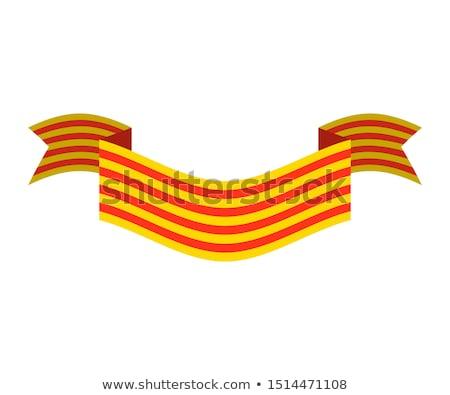 Catalonia flag isolated. Estelada Blava banner ribbon. Symbol of Stock photo © popaukropa