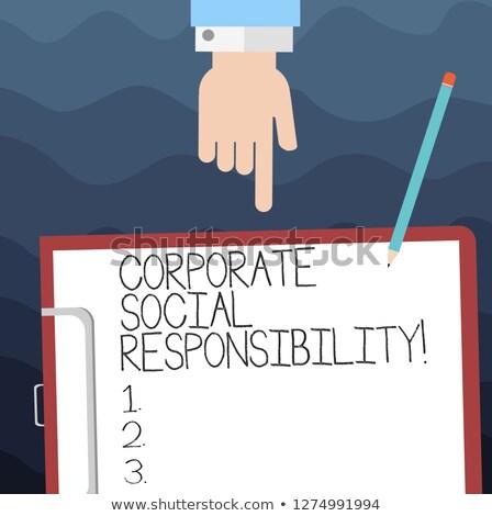 クリップボード 企業 社会 責任 木製 ストックフォト © tashatuvango