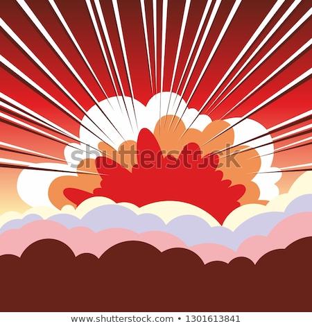 míssil · ilustração · silhueta · gradiente · de · volta · bomba - foto stock © lightsource