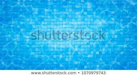 stap · Blauw · zwembad · water · gezondheid · sport - stockfoto © thp