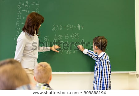 School subject for Mathematics with kids in class Stock photo © bluering