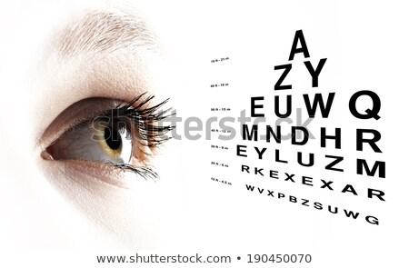 Olho traçar alfabeto olhos doente Foto stock © wavebreak_media