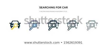 zoom in icon in different style stock photo © sidmay