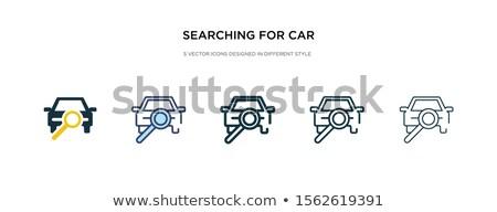 Zoom icona diverso stile colore vettore Foto d'archivio © sidmay
