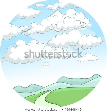 英語 空 曇った 気まぐれな 実例 風光明媚な ストックフォト © lenm