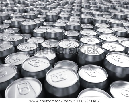 Lot of beer. Packaging Aluminum can of alcohol. Stock photo © MaryValery