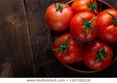 緑 · トマト · 赤 · 表 · プレート · テクスチャ - ストックフォト © Walmor_