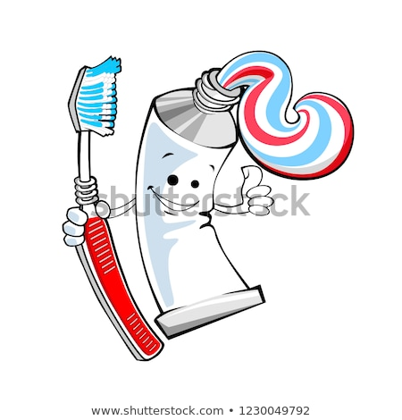 Tube Toothpaste isolated. Brush your teeth. Tooth-paste vector i Stock photo © MaryValery