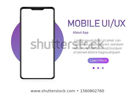 Modern touchscreen mockup phones with tefchnology infographics d Stock photo © DavidArts