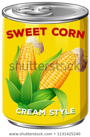 A Can of Sweet Corn Cream Style Stock photo © bluering