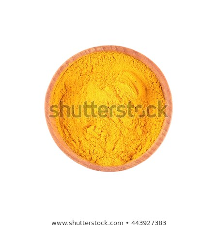 Small bowl of orange turmeric spice Stock photo © dash