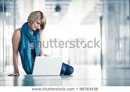 Portrait Of Teenage Girl On Her Laptop stock photo © monkey_business