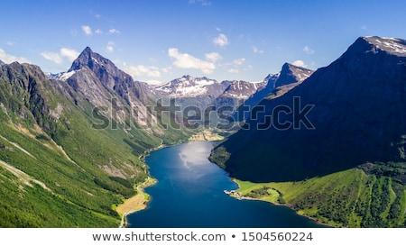 Norwegen · schönen · Natur · Antenne · Fotografie · lange - stock foto © cookelma