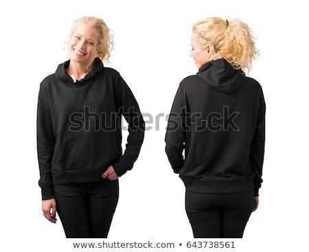 woman wearing black jacket stock photo © acidgrey