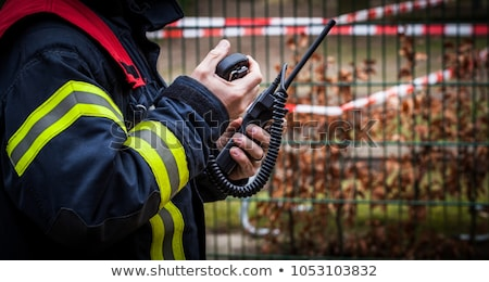 Redding telefoon helpende hand komische cartoon pop art Stockfoto © rogistok