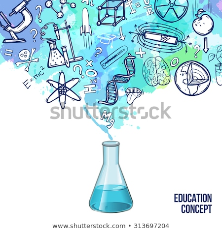 Biology Emblem with Lab Equipment for Researches Stock photo © robuart