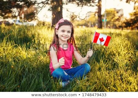 patriotic child sitting stock photo © cthoman