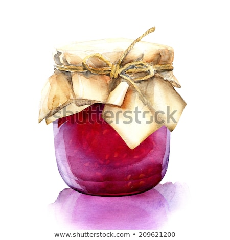 Granny with Tradition Berry Jam or Marmalade Jar Stock photo © robuart