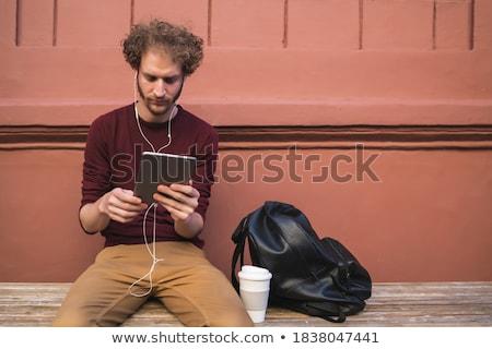 portré · férfi · digitális · tabletta · üzlet · internet - stock fotó © Minervastock